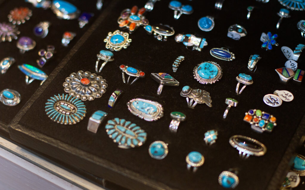 array of Native American rings